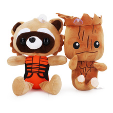 Guardians Galaxy Tree Man People Rocket Plush Toys Stuffed Bear Soft Dolls 20cm Approx(China)