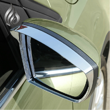 For Ford kuga Escape 2013 2014 Rearview mirror rain gear Rain Eyebrow ABS Chrome trim for kuga accessories