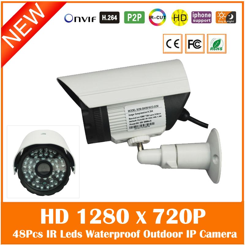Hd 720p 1.0mp Ip Camera Outdoor Waterproof Bullet Security Surveillance Night Vision Cctv Cmos Motion Detect Freeshipping Hot <br>