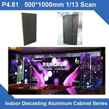TEEHO 4pcs/lot P4.81 SMD indoor 500*1000mm slim LED Display DieCast Cabinet panel video rental advertising wedding hotel stadium(China)