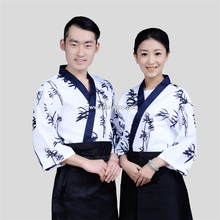 Bamboo women sushi chef uniform men restaurant waitress uniforms Korea japanese chef coffee hotel food service cook suit japan(China)