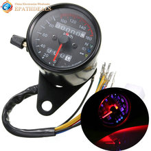 DC 12V Universal Motorcycle Speedometer Odometer Dual LED Backlight Night Readable Speed Meter Gauge Motorbike Instrument km/h(China)