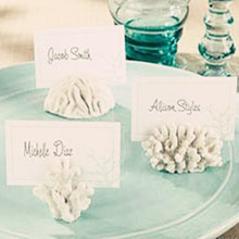 6pcs/lot Party Favors Seas Coral Beach Theme Place Card Holders Wedding Favors(China)