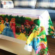 Party supplies 1pcs Disney Princess theme party, birthday party decoration disposable table cloth table cover