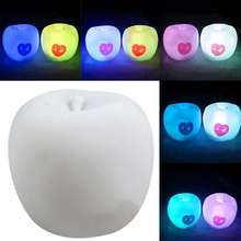 New Christmas LED Night Light Party Decor Wedding Valentines Gift Color Change Romantic Apple Night Light  HR