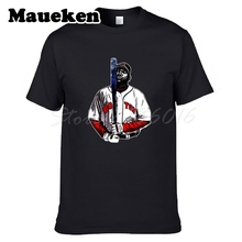 Boston MR CLUTCH #34 David Ortiz Men T-shirt Clothes T Shirt Men's for fans Red Sox gift o-neck tee W0313016(China)