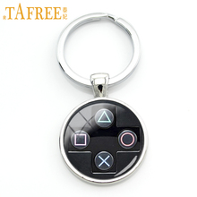 TAFREE Playstation controller key chain ring geeky boyfriend perfect gift idea jewelry video game controller keychain KC184