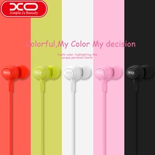 XO ear phones Candy S6 earphones with hands free earbuds 3.5mm In ear Music Headset with noise cancelling for iphone samsung(China)