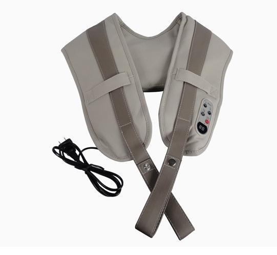 Topseller- Body massager shoulder massage device cape slim massage belt back neck shape belt EU plug #801M<br>