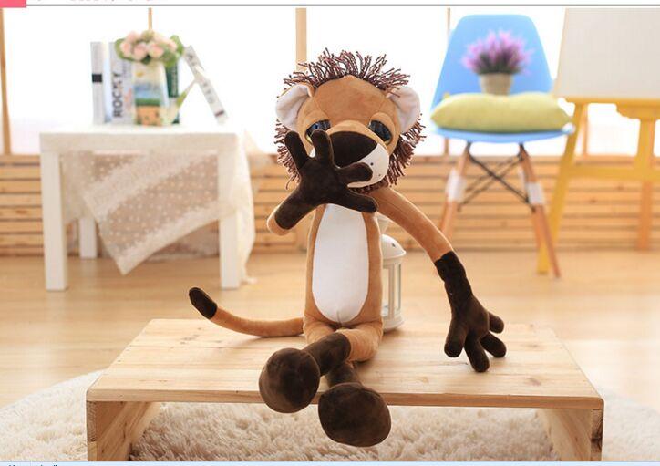 cute creative plush long legs lion toy big eyes lion doll gift about 80cm<br>