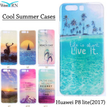 2017 Funda Coque Huawei P8 lite 2017 Cover Cool Summer Beach Sea Case Silicon Protective Soft Case Cover for Huawei P8lite 2017