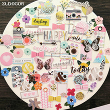 ZLDECOR 70pc Beautiful Flowers Cardstock Die Cuts for Scrapbooking Happy Planner/Card Making/Journaling Project