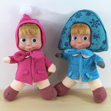 New Russian Masha and Bear plush toys Baby Children Stuffed Plush Animals Dolls kids Gift in-stock