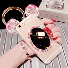 Buy Mirror Silicon Bling Case IPhone 7 8Plus 7 6 6S Plus 5S 5 SE Case Diamond Coque Crystal Cover Diamante Fundas Capa Carcasa for $3.49 in AliExpress store