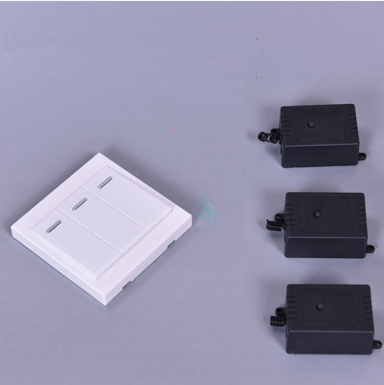 86 Push Button Wall Switch RF Wireless Remote Control Switch No-wifi 3 gang 1 way switch for home light<br>