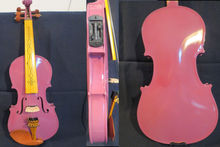 Purple color NEW model 5 strings 4/4 electric violin +Acoustic violin(China)