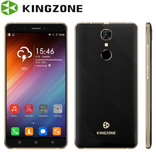 Kingzone S20 Shockproof Smartphone 5.5'' 1GB RAM 16GB ROM Quad Core Fingerprint Phone 8MP 3000mAh Telefon 3G Unlocked Cell Phone(China)