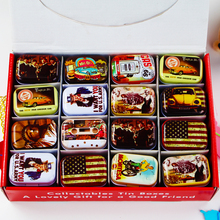 Mini Mac Cosmetic Lipstick Organizer Metal Tin Box Mini Tea Box 32Piece/Lot Vintage Jewelry Storage Case Wedding Favor Gift Box(China)