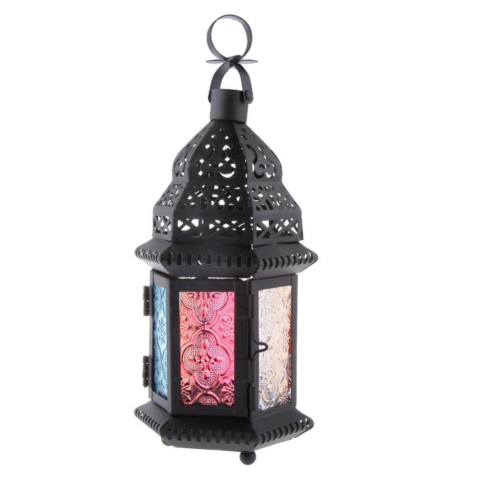 Moroccan Decor Antique Iron Handed Lantern House Candlestick European Romantic Wedding Candle Holder Lantern Retro Home Decor