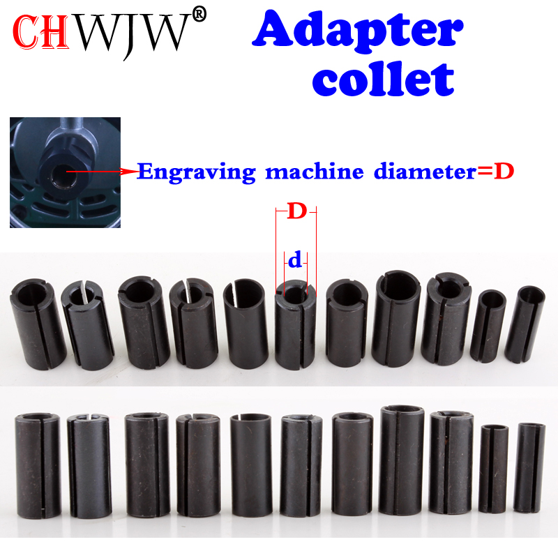 1pcs High Precision Adapter collet shank CNC router tool Adapters holder 12.7mm change to 6.35mm/ 8-6.35/ 8-6/ 12.7-8mm 6mm size