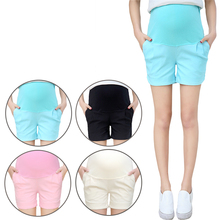 Maternity Cotton Short Pants Summer For Pregnant Women Plus Size Clothing Pregnancy Clothes Shorts Belly Skinny cotton 4XL