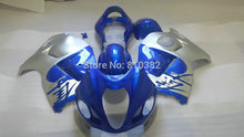 Injection Mold FAIRING KIT for SUZUKI Hayabusa GSXR1300 96 99 00 07 Silver blue GSXR 1300 1996 1999 2000 2007 Fairings set+gifts