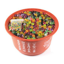2000pcs multi colors Water Plant Flower Jelly Crystal Soil Mud Water Pearls Soil Gel Beads Balls Bead Decoration (Random Color)