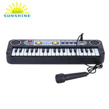 Mini Electronic Multifunctional 37 Keys Electone Keyboard Musical Toys with Microphone Educational Toys for Children Beginners