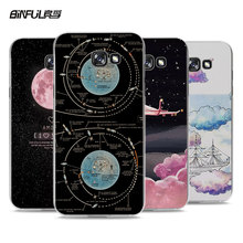 BiNFUL Popular Space Aircraft astronaut style hard transparent phone Case cover for Samsung Galaxy A7 2017 A5 A3 A7 2016 A8 A9(China)