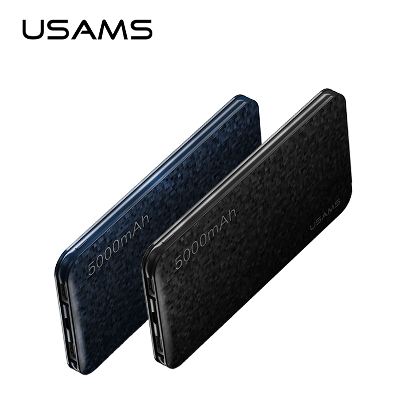 USAMS Ultra Slim 5000mAh Power bank Power bank xiaomi,for iPhone 6 7 Samsung Mobile Phone