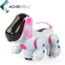 New Puppy Baby Friend Partner Intelligent Electronic Walking Pet Toys Music Light Robot Dog Model Toy For Kid Gift Doll