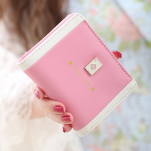 New Popular Women Wallet Red Love Heart Lady Purse Portable Female Clutch Multicolor Card Holders Fresh Girl Change Purse