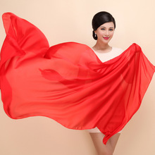 New luxuy brand Chinese Red women silk scarf fashion long shawls Top technology Solid color scarf For Wedding stoles Gift