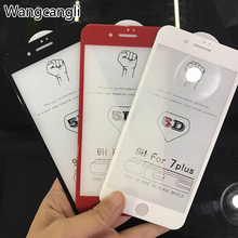 5D Full Cover Tempered Glass for iphone X 8 7 6 6S Plus 5D Curved Edge Tempered Glass Screen Protector for iphone 7 plus(China)