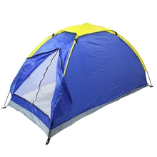 Outdoor camping tent single People camping tent Blue design beach tent pop up open 1-2person for camping garden fishing