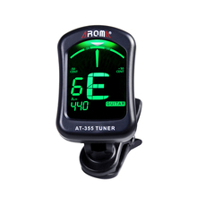 Aroma AT-355 Display Electric Tuner Clip-on Tuner For Chromatic Bass Violin Viola Ukulele Guitar Parts Musical Instruments