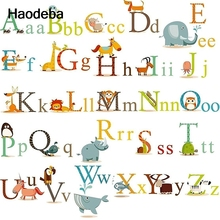 Removabe 3d Alphabet Wall Stickers Adhesive Nursery Wall Decals Wallpaper/Gifts For Kids Room Decor Sticker(China)