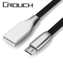 Crouch 2A Zinc Alloy  Micro Usb Cable Charger Fast Charging Cable Cord Cable for Samsung Xiaomi LG Mobile Phone Cables