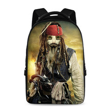 17 inch spoof painting classical school backpack youth boys and girls laptop bag can store 15 inch computer