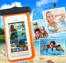 Waterproof Camera Mobile Phone MP3 Dry Bags Storage Bag Protector Pouch Cases Cover Swimming Diving with water Flashing Alarm