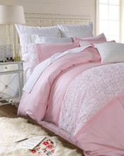 Cotton princess lace bedding sets girls,pure white queen king rose weding home textiles bed sheets pillow case quilt cover