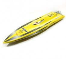 1117 Night Hawk Racing Rocket Boat-Yellow/ Electric Brushless RC Boat Fiberglass with 2858 Brushless Motor, 125A ESC with BEC(China)