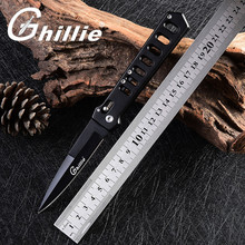 New Stainless Steel Rescue Survival Tactical Pocket Knives Black Handle Outdoor Survival Folding Knife Camping Hunting Knives(China)