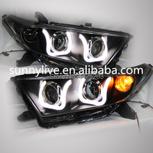 2012-2013 year for TOYOTA Highlander U Style LED Strip Head lights Head lamp Front light LD V1(China)