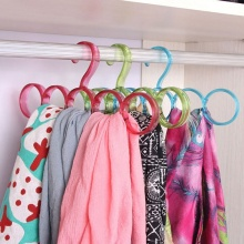 Multifunction Round Scarf Shawl Belt Tie Hangers High Quality Durable Plastic Clothes Hanger Hook Holder