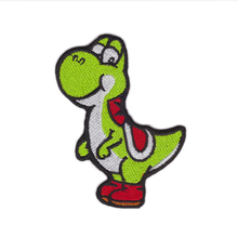 Designs Embroidered DINOSAUR YOSHI CARTOON Video Comics Iron & Sew On Patch Cloth Lace Motifs(China)