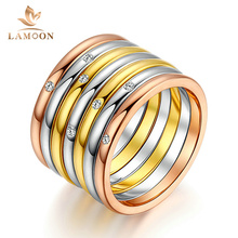 Top Quality New Design One Set Seven Rins 3 Color Fashion Ring Austrian Crystals Full Sizes Wholesale R388