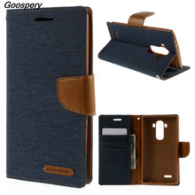 For LG G4 Case Original MERCURY GOOSPERY Canvas PU Leather Protective Cover Case for LG G4 H810 H815 VS999 F500 H818 LS991(China)