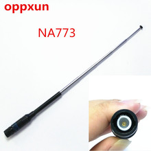 NA-773 144/430 MHz telescopic antenna BNC connector for ICOM IC-V8/V82 two way radio free shipping