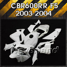 New Unpainted Motorcycle Fairing Kit For Honda CBR600RR F5 2003-2004 03-04 600RR Injection ABS Free shipping D10(China)